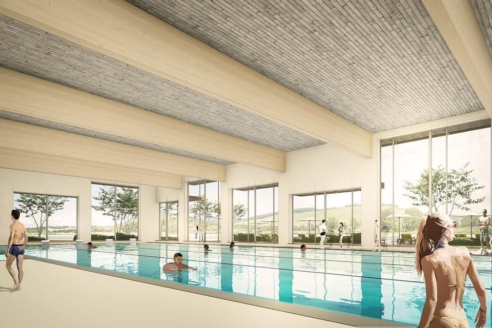 Planung des Hallenbads am Bildungszentrum in Weinstadt
